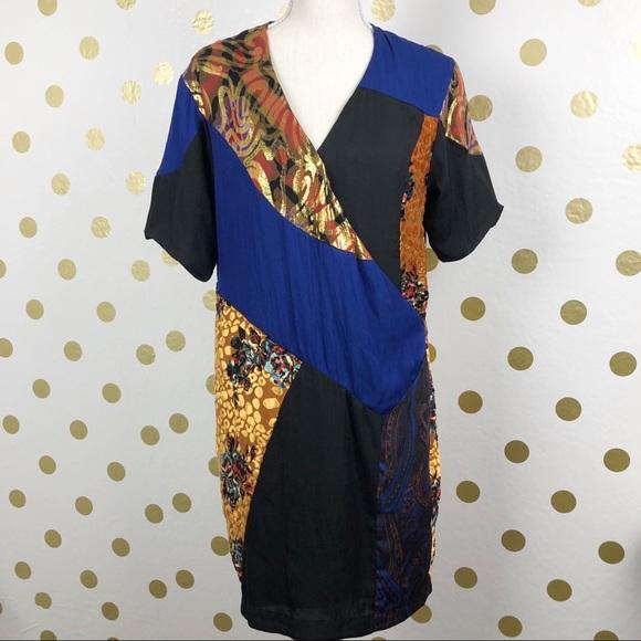 Anthropologie Dresses & Skirts - Hd In Paris Silk Blend Black Motif Camellia Dress